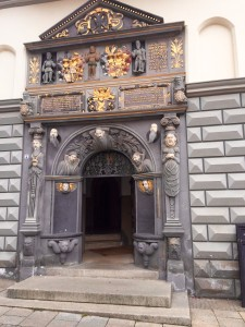 Rathausportal Turmeingang Gera